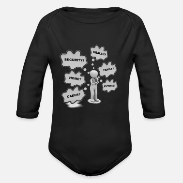 Blasen What am I to do? - Organic Long Sleeve Baby Bodysuit