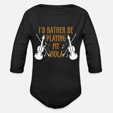 Instrument music country pop song sound techno gift note - Organic Long Sleeve Baby Bodysuit