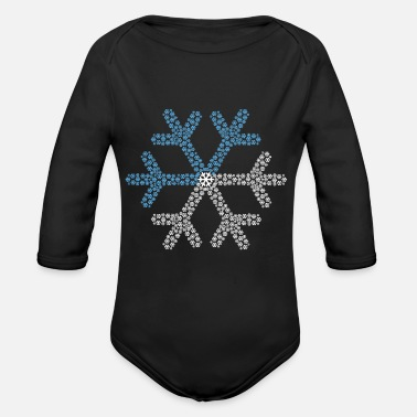 Winter Snow Gift Ski Snowman Sledge Winter - Organic Long-Sleeved Baby Bodysuit