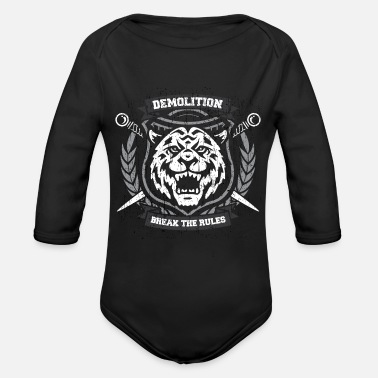 Demo 42 tiger4 demo - Organic Long Sleeve Baby Bodysuit