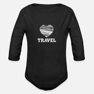 Travel Bug Travel with heart Travel Bug - Organic Long-Sleeved Baby Bodysuit