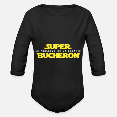 Lumberjack Party Super Lumberjack The Best In The Galaxy - Organic Long-Sleeved Baby Bodysuit