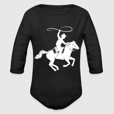 Horseman In The Fall - Organic Long Sleeve Baby Bodysuit