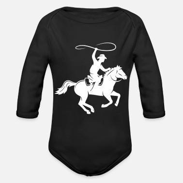 Horseman Horseman In The Fall - Organic Long Sleeve Baby Bodysuit