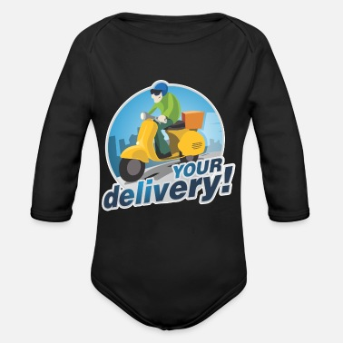 Delivery Your Delivery - Organic Long-Sleeved Baby Bodysuit