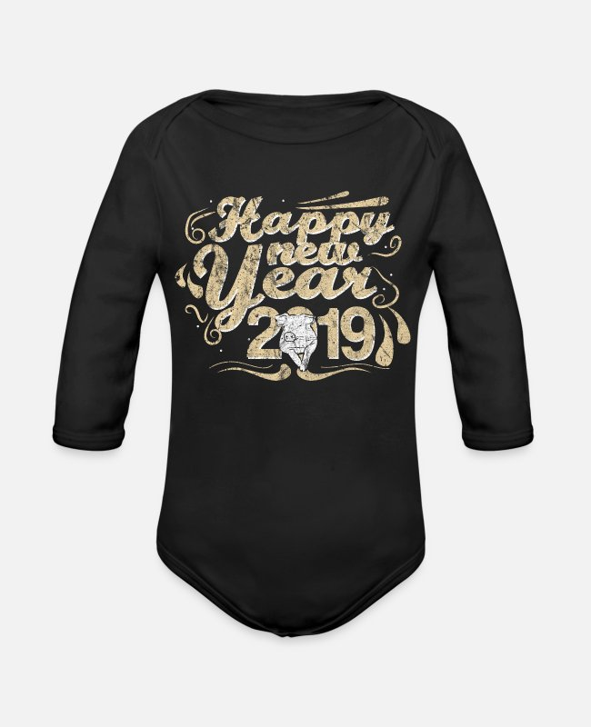 Easter Baby One Pieces - Holiday - Organic Long-Sleeved Baby Bodysuit black