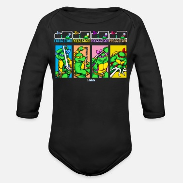 Select Your Turtle - Support Project Cowabunga - Organic Long-Sleeved Baby Bodysuit