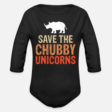 Animal Protection animal rhinoceros animal protection - Organic Long-Sleeved Baby Bodysuit