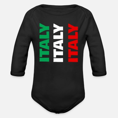 Italy italy - Organic Long-Sleeved Baby Bodysuit