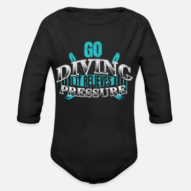 Underwater Diving underwater - Organic Long-Sleeved Baby Bodysuit