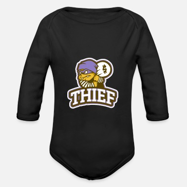 Thief Thief - Organic Long-Sleeved Baby Bodysuit