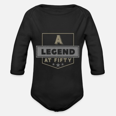 50th Birthday 50th Birthday - Organic Long Sleeve Baby Bodysuit