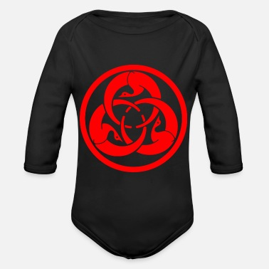 Hagakure Ghost Dog - Organic Long-Sleeved Baby Bodysuit