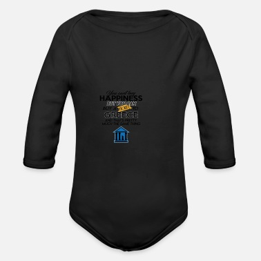 Greece Greece - Organic Long-Sleeved Baby Bodysuit