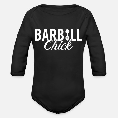 Crossfit Barbell Fitness Chick - Organic Long-Sleeved Baby Bodysuit