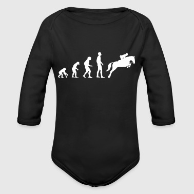Evolution Show Jumping - Organic Long Sleeve Baby Bodysuit