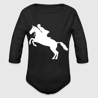 Horses Riding Harness Racing Rider Equitation - Organic Long Sleeve Baby Bodysuit