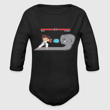 Fighter Of Streets - Organic Long Sleeve Baby Bodysuit