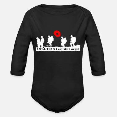 Remembrance REMEMBRANCE DAY - Organic Long Sleeve Baby Bodysuit