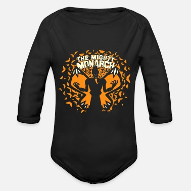 Venture venture monarch butterfly - Organic Long-Sleeved Baby Bodysuit