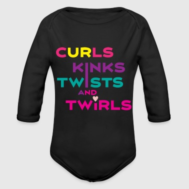 Curls and Kinks - Organic Long Sleeve Baby Bodysuit