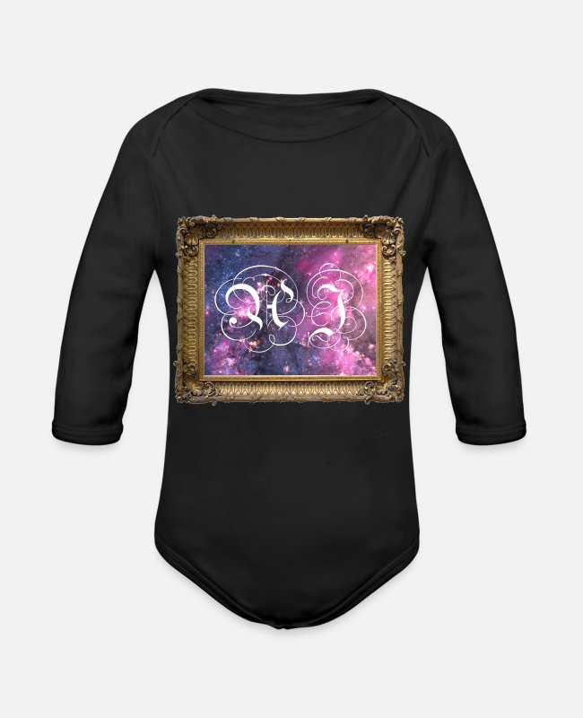 Innerbeauty Baby One Pieces - galaxy - Organic Long-Sleeved Baby Bodysuit black