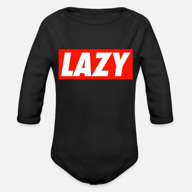 Lazy LAZY - Organic Long-Sleeved Baby Bodysuit