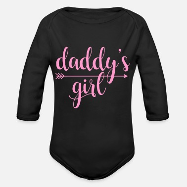 Girl daddy's girl - Organic Long-Sleeved Baby Bodysuit