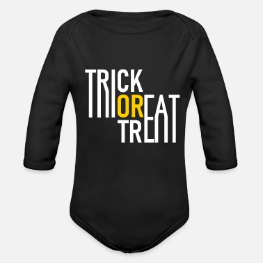 Grave Trick or Treat - Halloween - Pumpkin - Zombie - Organic Long-Sleeved Baby Bodysuit