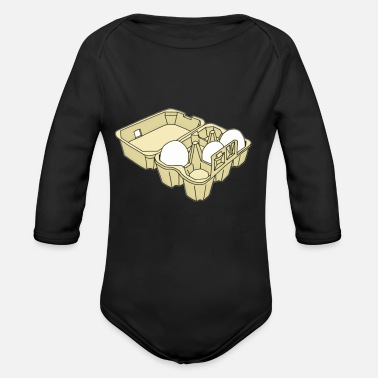 Egg Eggs - Organic Long Sleeve Baby Bodysuit