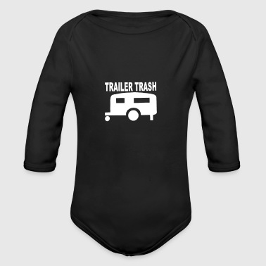 TRailer trash - Organic Long Sleeve Baby Bodysuit