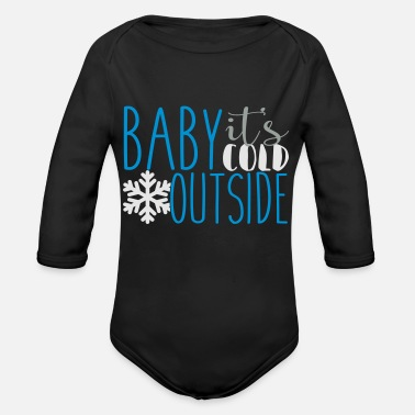 Cold cold - Organic Long-Sleeved Baby Bodysuit