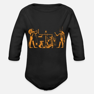 Ancient egypt sphinx pharao egyptian pyramiden aegypten56 - Organic Long-Sleeved Baby Bodysuit