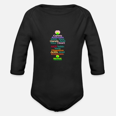 Caress CARESS ANIMALS WITH YOUR HANDS AND HEART - Organic Long Sleeve Baby Bodysuit