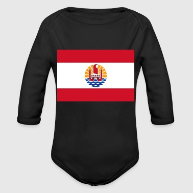National Flag Of French Polynesia - Organic Long Sleeve Baby Bodysuit