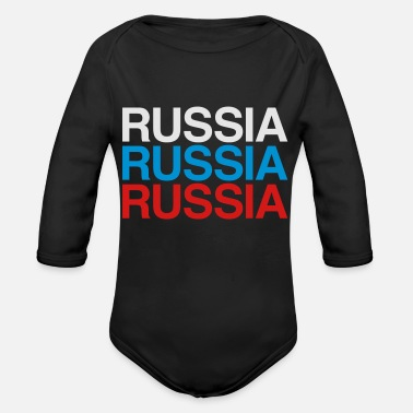 Russia RUSSIA - Organic Long-Sleeved Baby Bodysuit