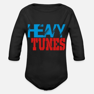 Tuning heavy tunes - Organic Long Sleeve Baby Bodysuit