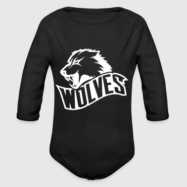 Wolves - Organic Long Sleeve Baby Bodysuit