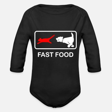Fast Food Fast Food - Organic Long-Sleeved Baby Bodysuit