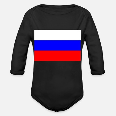 Russian Flag Russian flag - Organic Long-Sleeved Baby Bodysuit