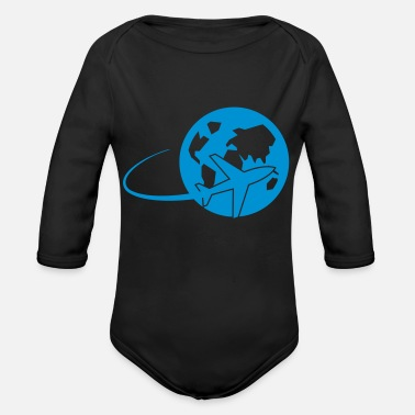 World Travel world travel - Organic Long-Sleeved Baby Bodysuit