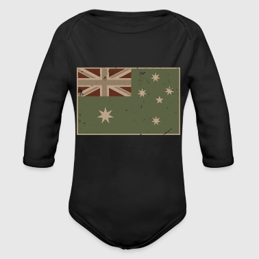 Australian Tactical Flag - Organic Long Sleeve Baby Bodysuit
