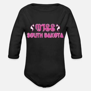 South Dakota Miss South Dakota - Organic Long Sleeve Baby Bodysuit
