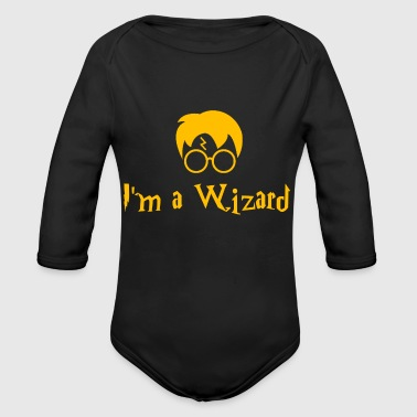I'm a Wizard - Harry Potter - Organic Long Sleeve Baby Bodysuit