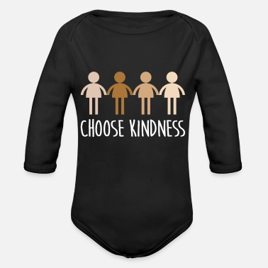 Kindness Choose Kindness Anti Bullying Respect Movement - Organic Long-Sleeved Baby Bodysuit