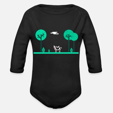 Meadow summer meadow - Organic Long-Sleeved Baby Bodysuit