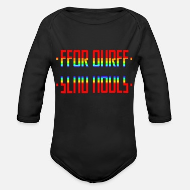 Party SEND NUDES /hidden message/rainbow - Organic Long-Sleeved Baby Bodysuit