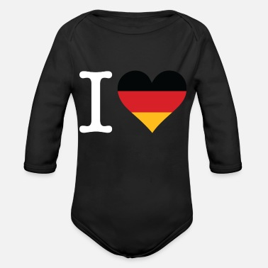 I Love Germany - Organic Long-Sleeved Baby Bodysuit