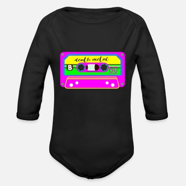 Death Metal DEATH METAL - Organic Long Sleeve Baby Bodysuit