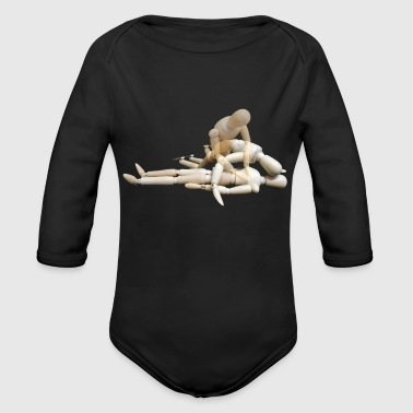 first aid massage erste hilfe therapy therapie5 - Organic Long Sleeve Baby Bodysuit
